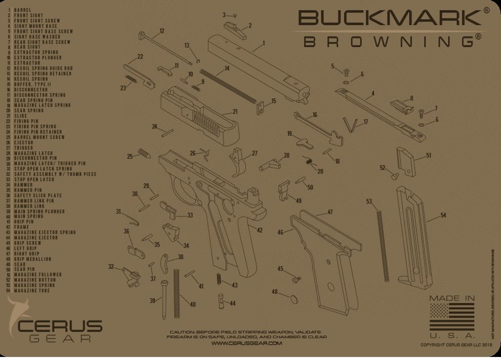 Browning Buckmark handgun mat