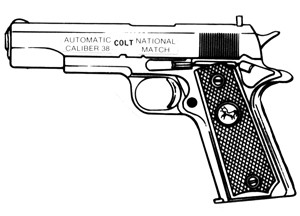 Colt Gold Cup 38 special 5 round blued Triple K