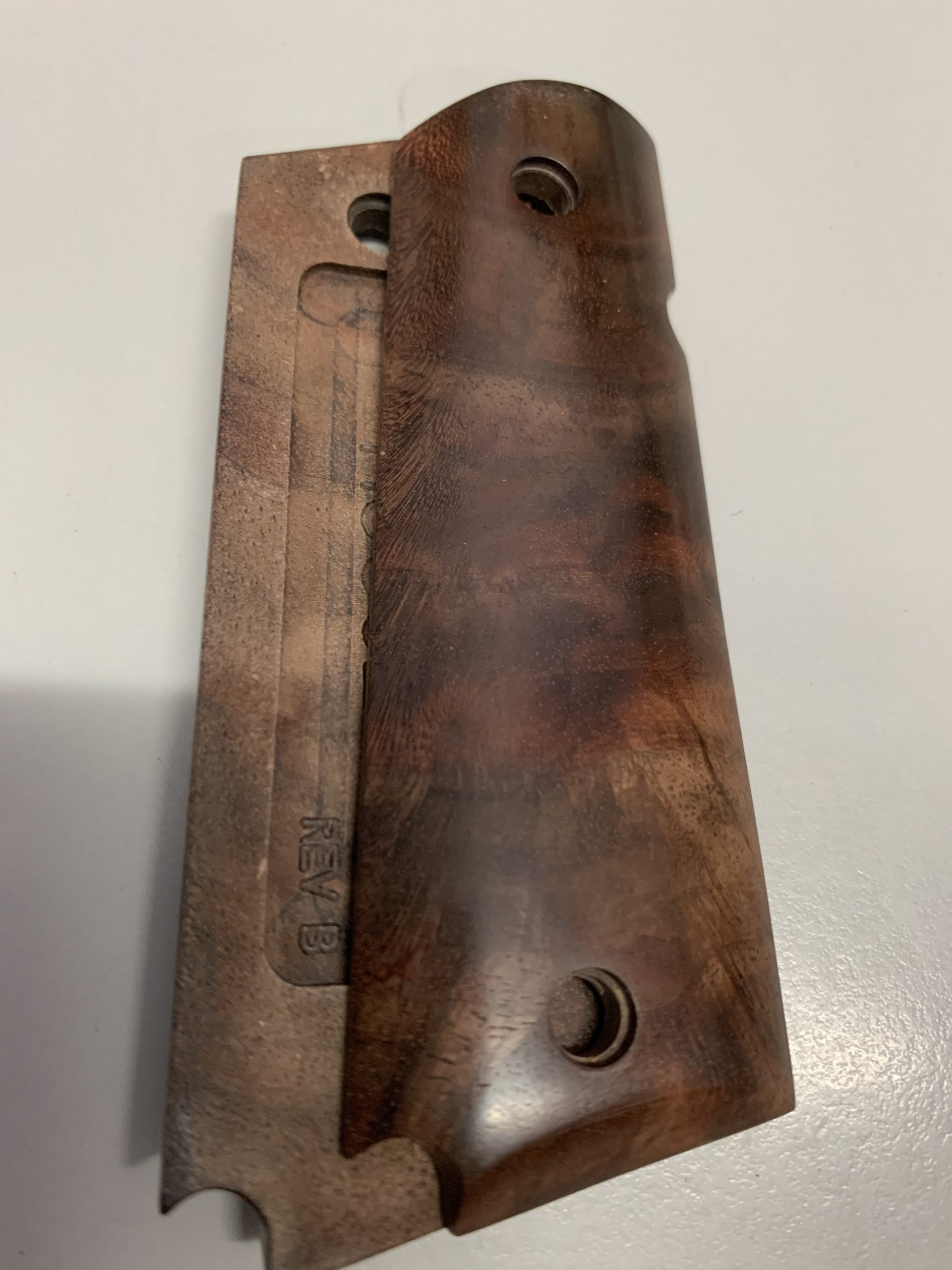 1911 Government model smooth walnut panel grips 45716