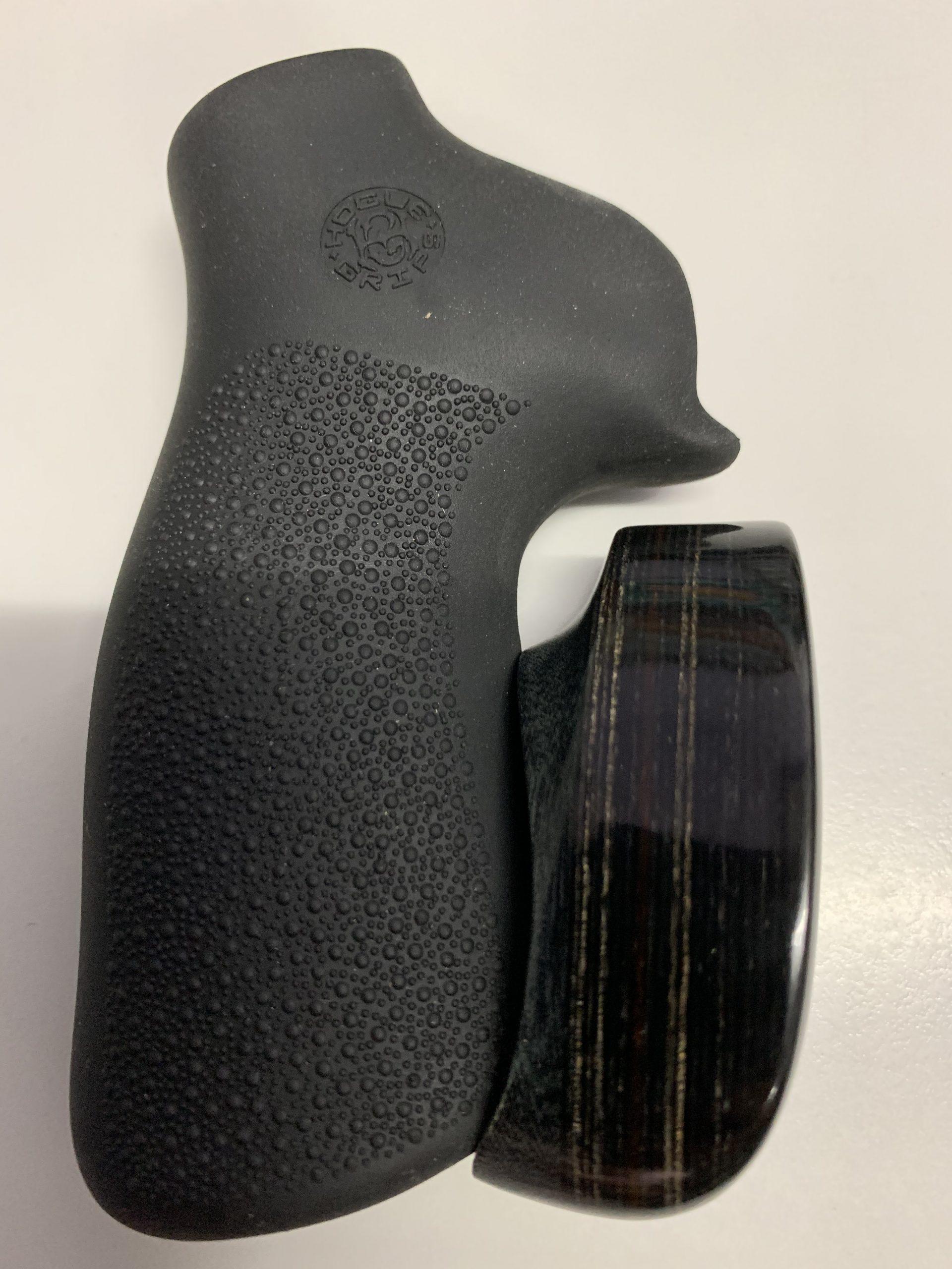 Ruger GP100 Super Redhawk Wood base rubber grip no finger grooves 80016