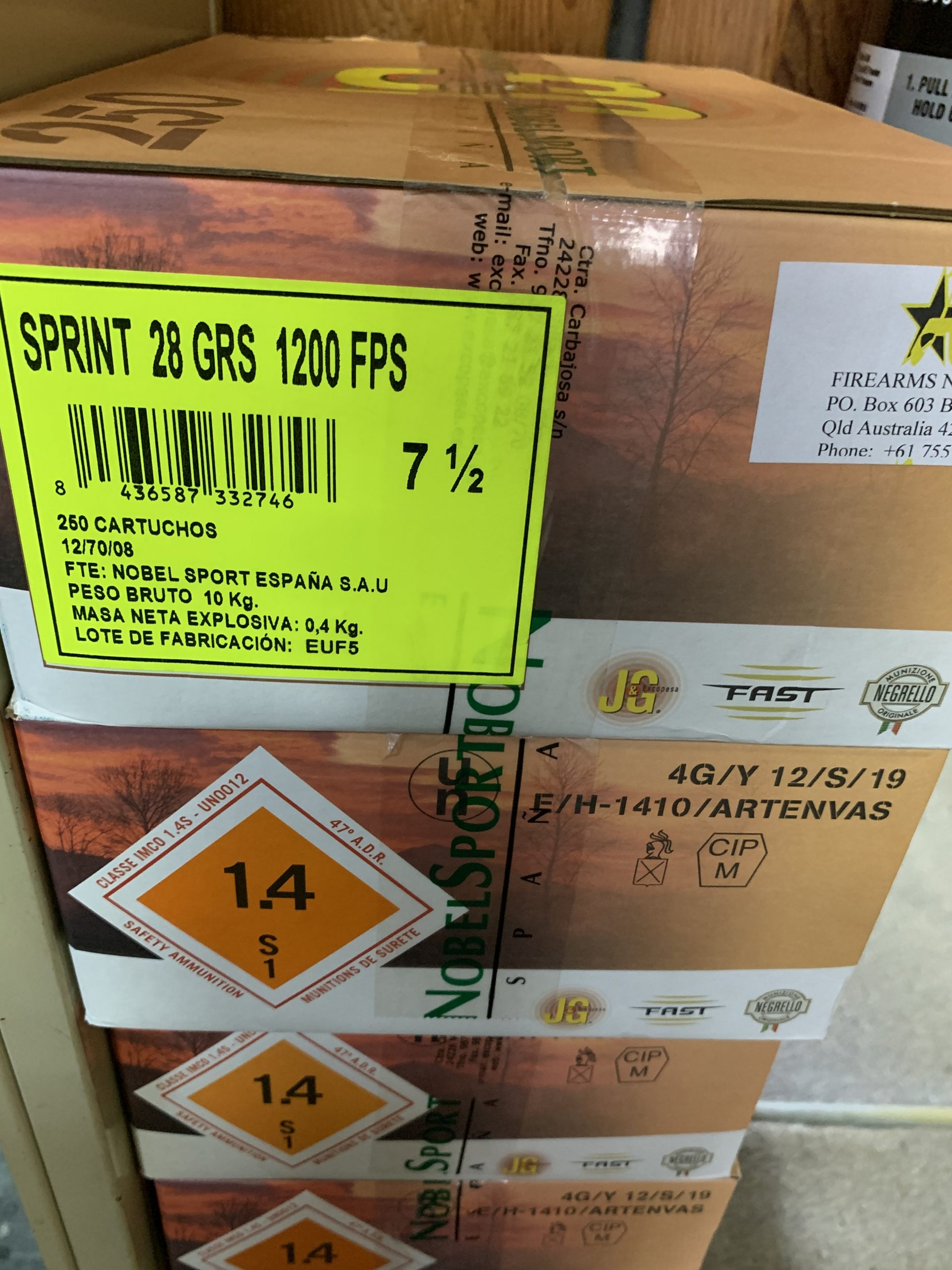 Sprint 12g 8s or 9s 28 grain shotshells carton of 250 pick up