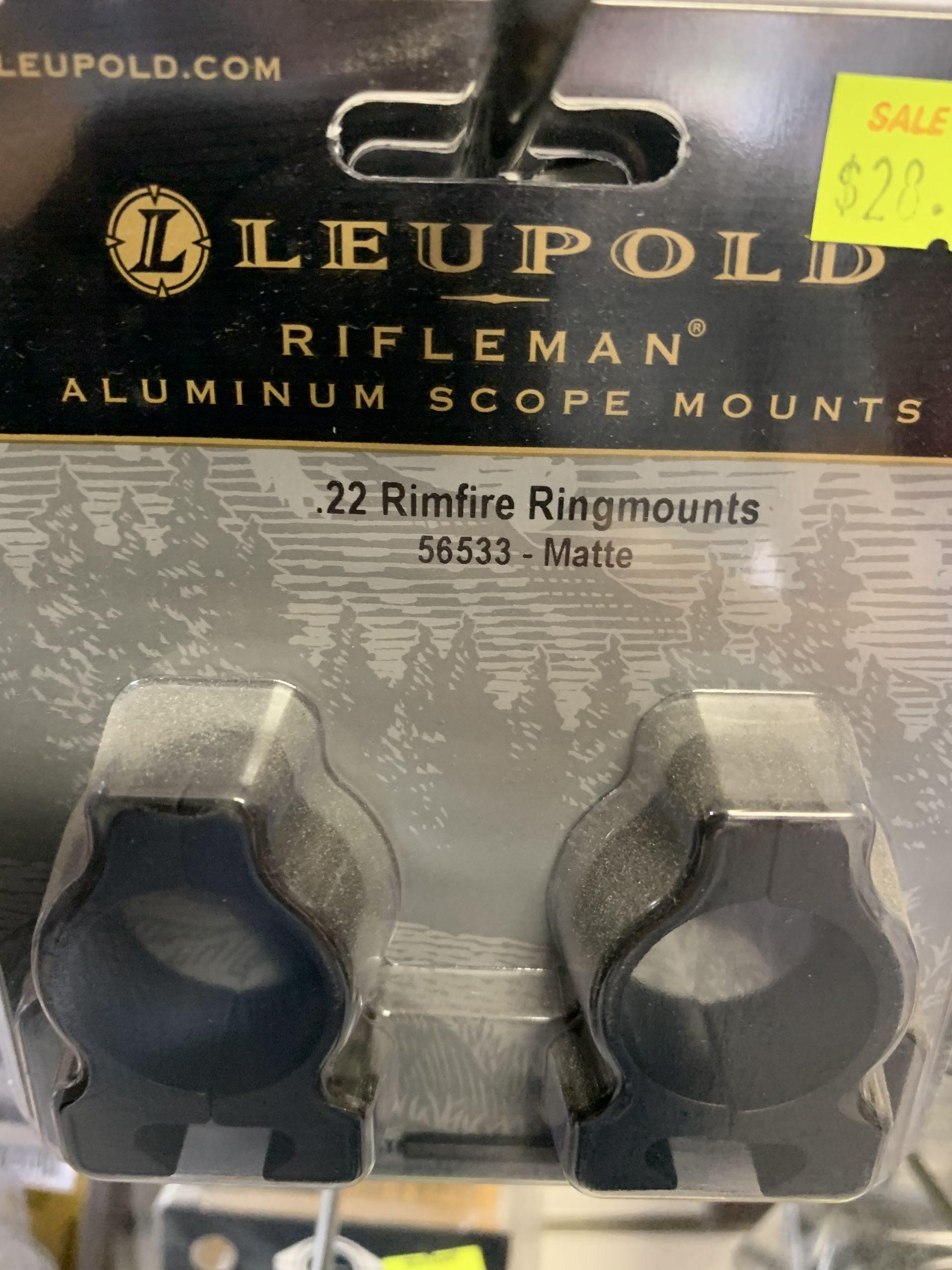Rifleman 22 Rimfire Aluminium Scope mounts matte Leupold
