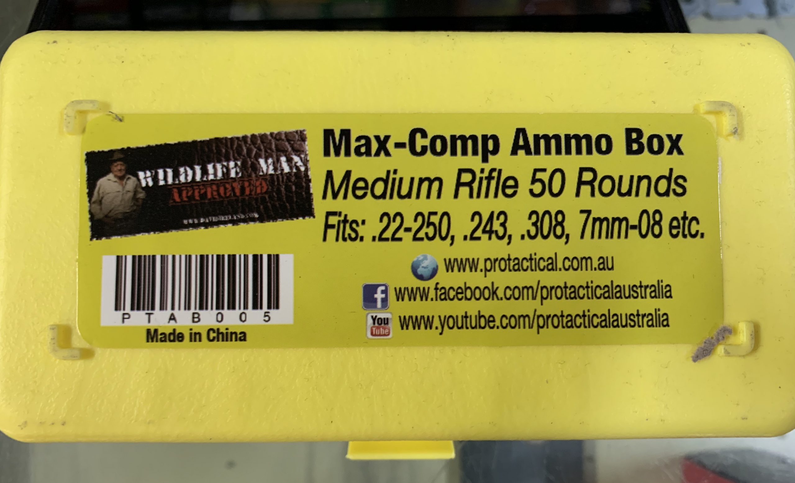 Medium rifle ammo box 22-250/243/308/7mm etc (50 capacity) MaxGuard