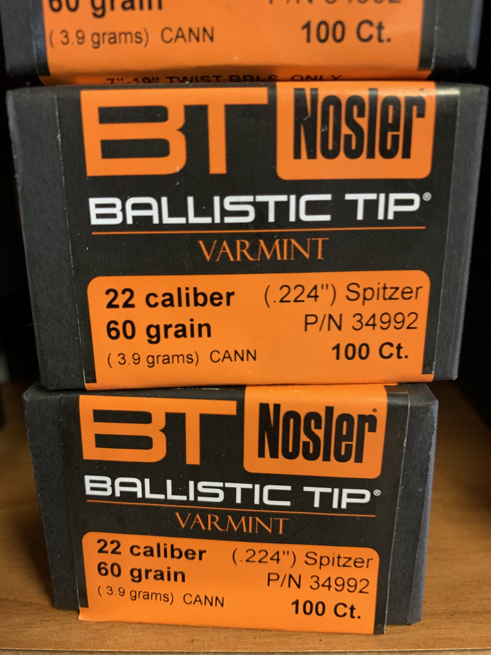 Nosler 22 caliber ballistic tip 60 gr (100 pack)