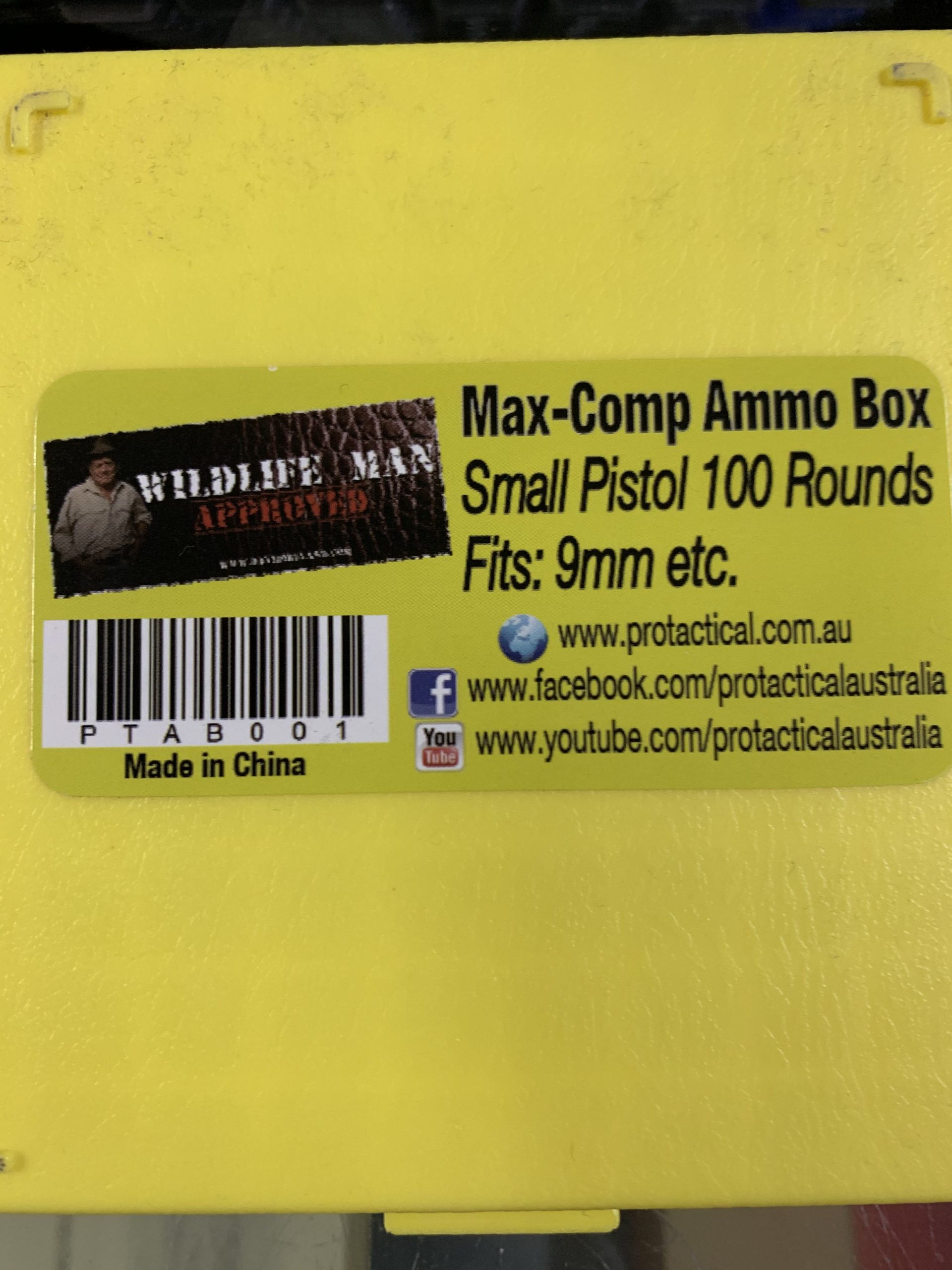 Small pistol 9mm ammo box Max Guard (100 round capacity)