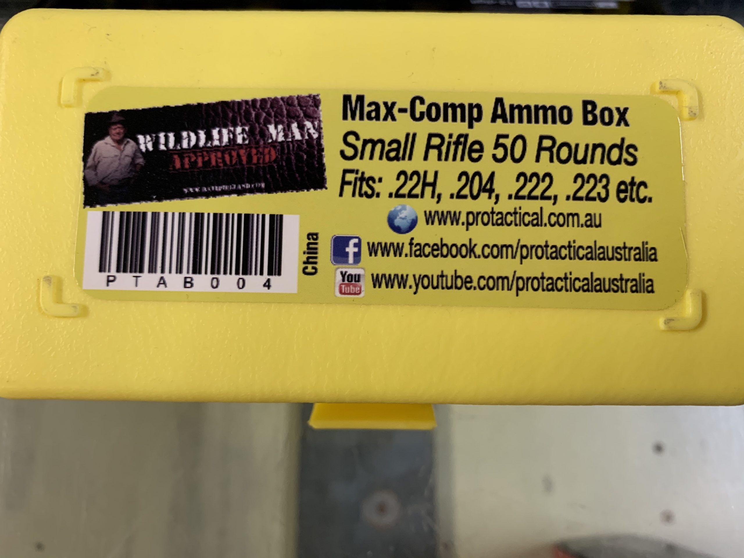 Small Rifle ammo box 222/223 etc (50 capacity) MaxGuard
