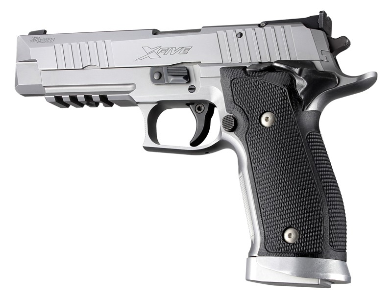 Sig P226 SAO X5 Piranha G10 solid black grip 33139
