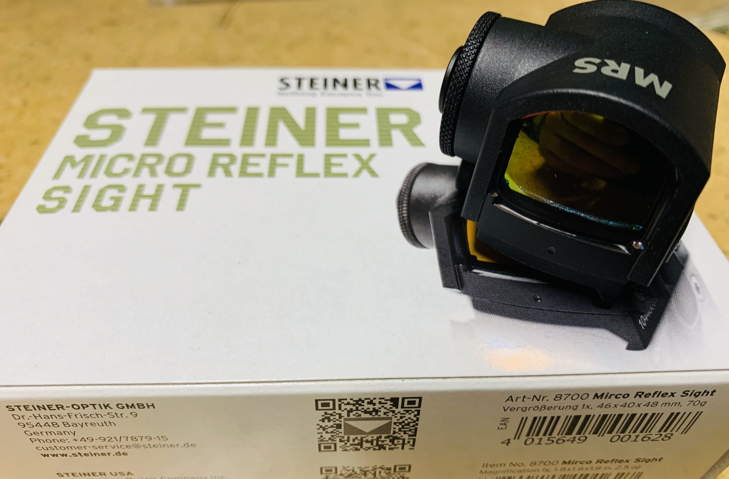 Steiner MRS Micro Reflex Sight 3 MOA red dot