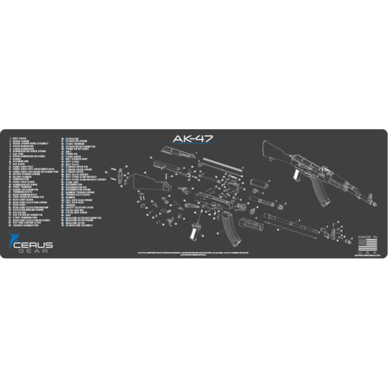 AK47 schematic Promat black/blue
