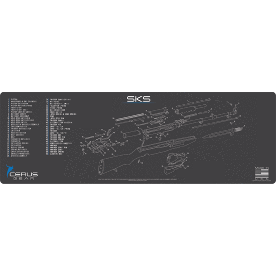 SKS rifle schematic Promat
