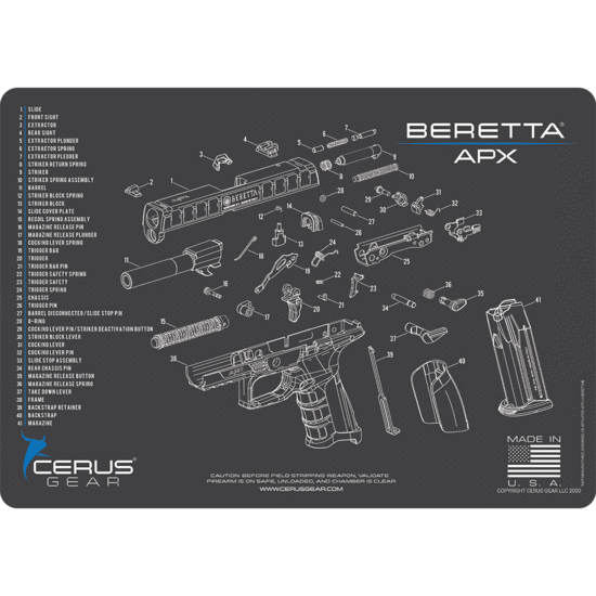 Beretta APX Schematic Promat grey