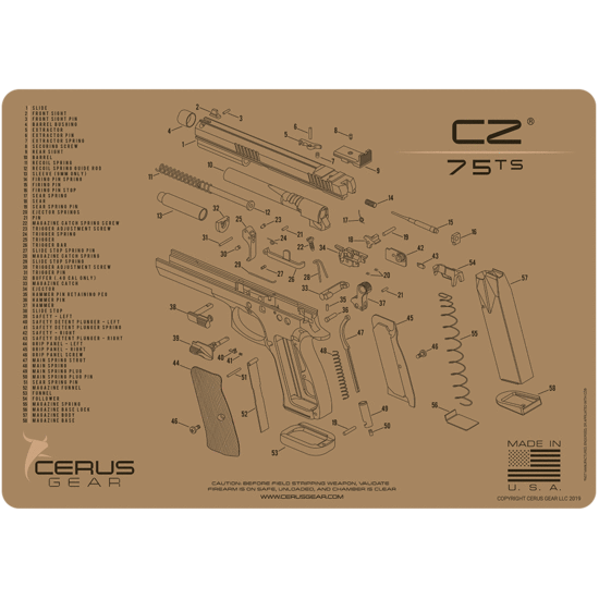 CZ75 ts Schematic Promat Coyote Brown