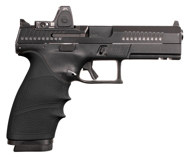 CZ P10 F handall grip with beavertail black 17800