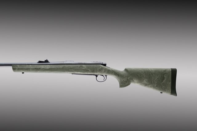 Remington 700 BDL short action std barrel full bed ghillie green stock 70802