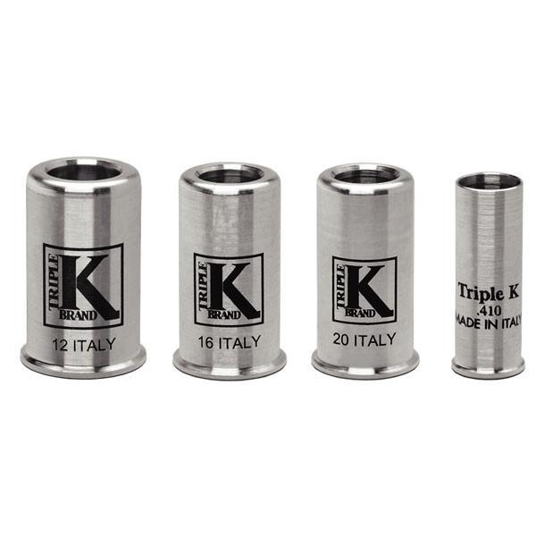 12 gauge snap caps 2 pack Triple K aluminium