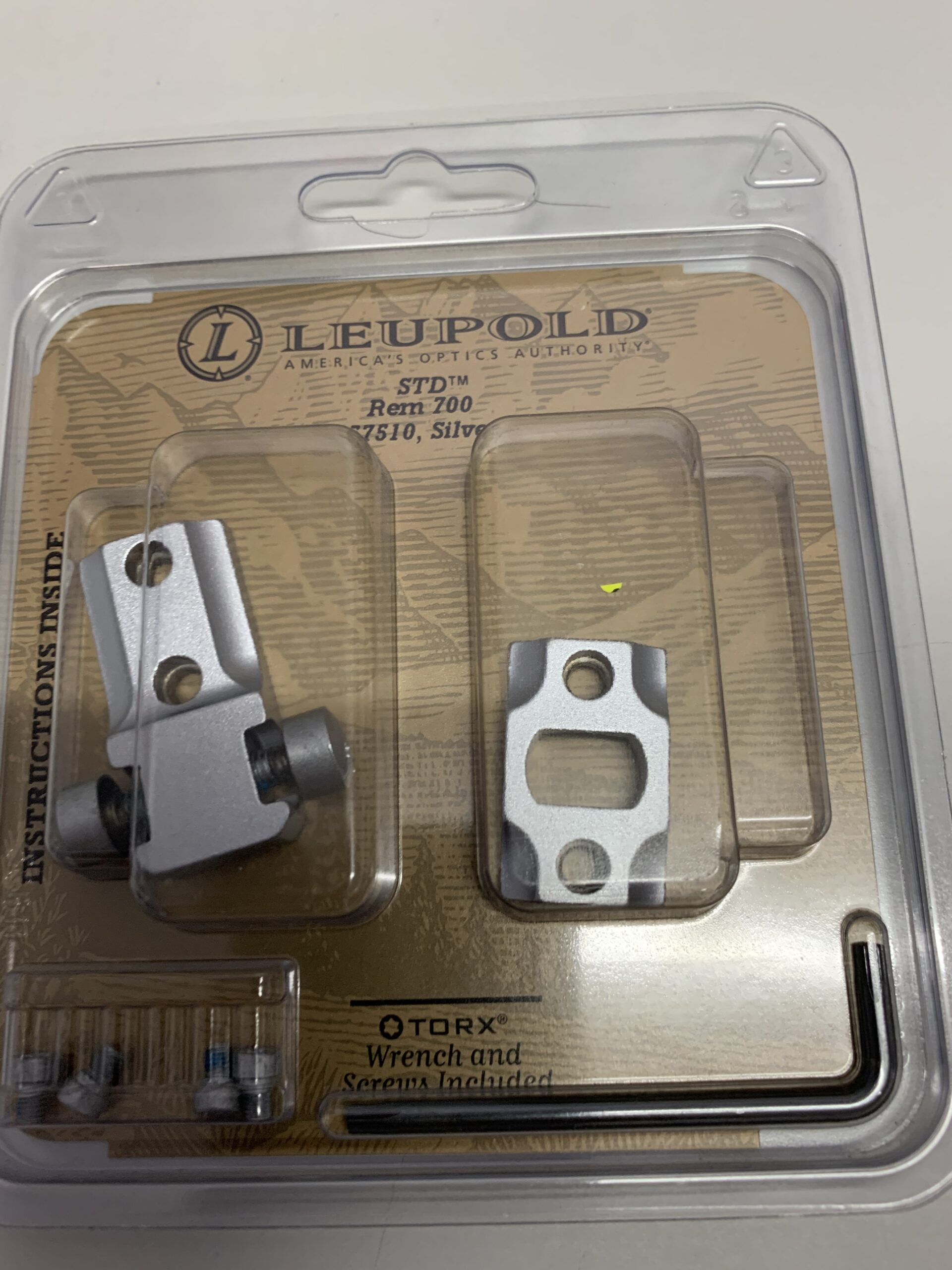 Leupold STD Rem 700 silver mounts 57510