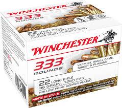 Winchester 22LR 333 Ammunition