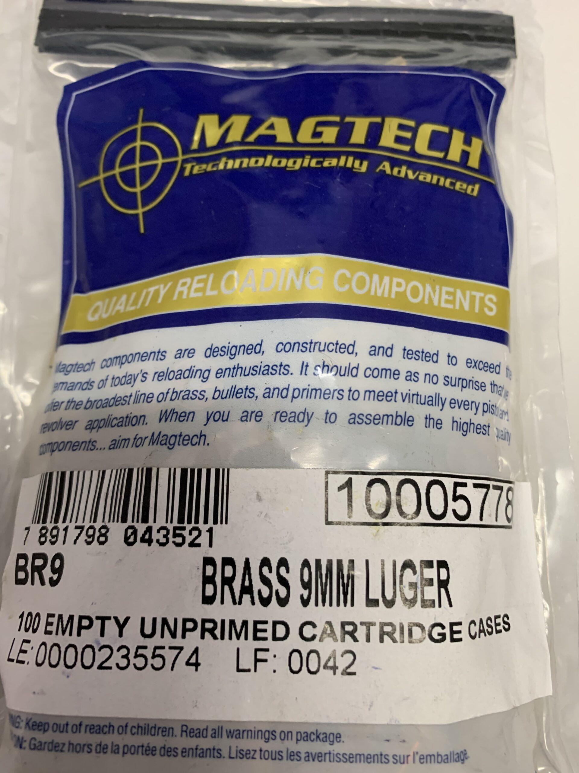 Magtech 9mm brass 100 pack