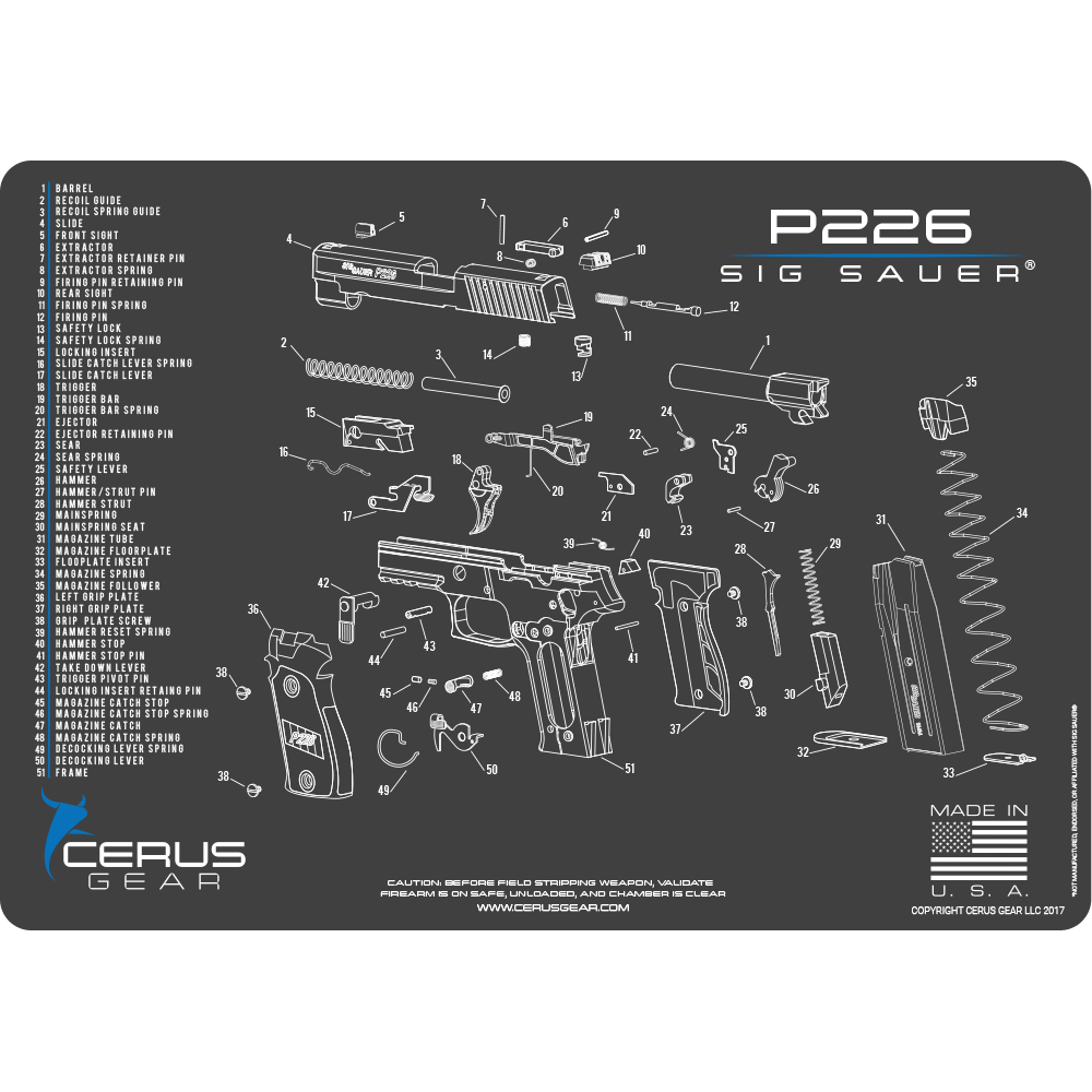 Sig Sauer P226 Schematic Promat grey