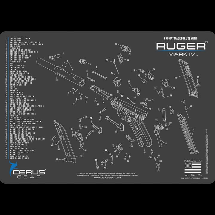 Ruger Mk IV 4 Schematic Promat black/blue Cerus