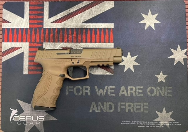 For We are One and Free Australia bullet flag Cerus cleaning mat